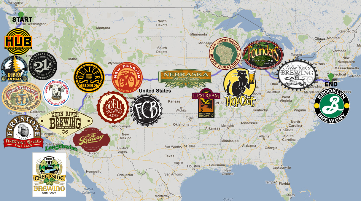 Seattle Brewery Map  Chicago Map